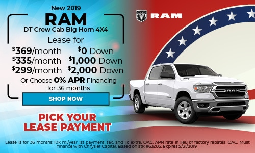 2019 RAM DT Crew Cab Big Horn 4X4