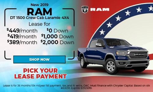 2019 RAM DT1500 Crew Cab Laramie 4X4