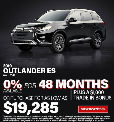 Purchase a 2019 Outlander ES 2.4 for $19,825