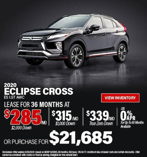 September 2020 Mitsubishi Eclipse Cross Offer