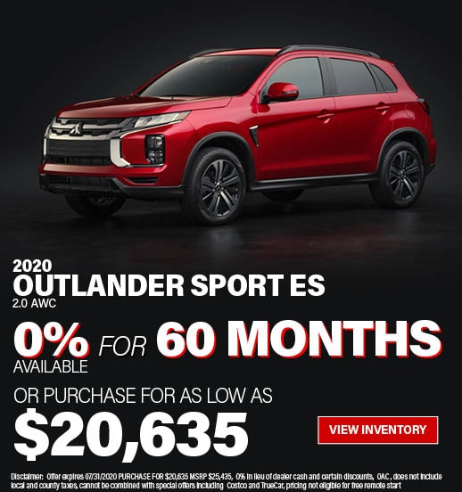 Purchase a 2020 Outlander Sport ES 2.0 AWC for $19,825