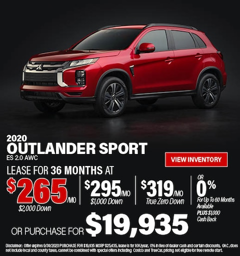 September 2020 Mitsubishi Outlander Sport Offer