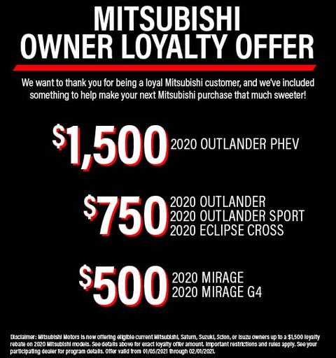 Mitsubishi Loyalty Offer
