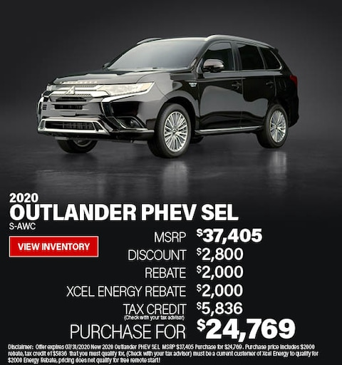 Purchase a 2020 Outlander PEHV SEL for $24,769