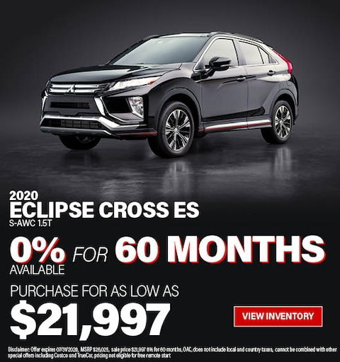 Purchase a 2020 Eclipse Cross ES 1.5T S-AWC for $21,997