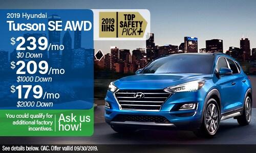2019 Tucson SE AWD Lease Offer