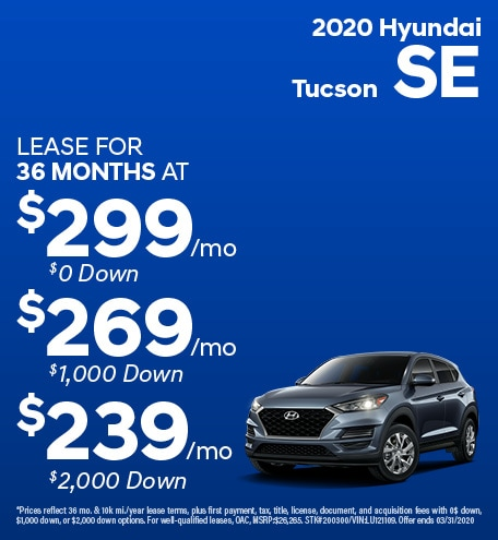 February 2020 Hyundai Tucson SE