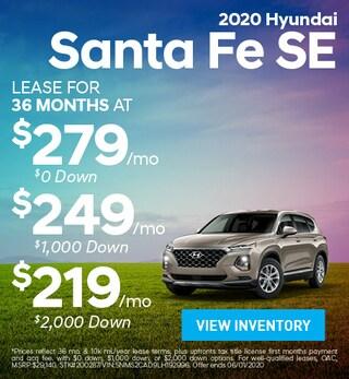 May- 2020 Hyundai Santa Fe SE