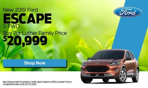 New 2019 Ford Escape S FWD