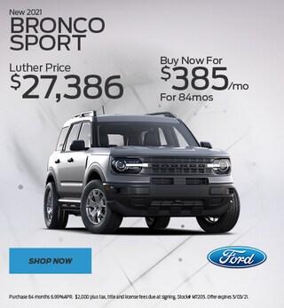 New 2021 Bronco Sport