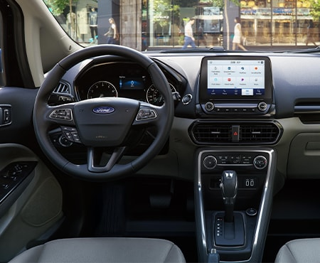 Interior dashboard of Ford EcoSport
