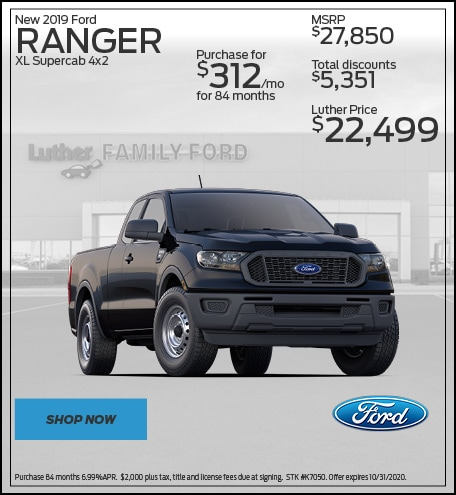 New 2019 Ford Ranger XL Supercab 4x2