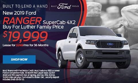 New 2019 Ford Ranger SuperCab 4X2