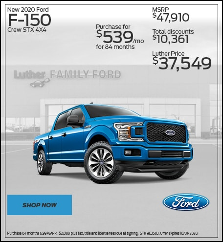 New 2020 Ford F-150 Crew STX 4X4