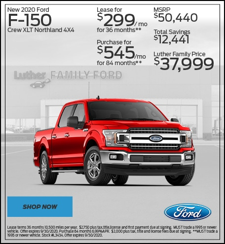 New 2020 Ford F-150 Crew XLT Northland 4X4
