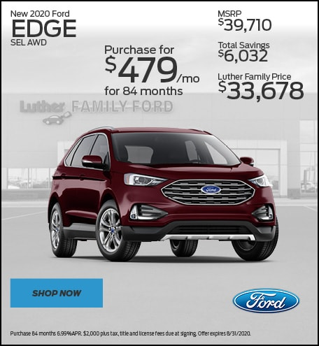 New 2020 Ford Edge SEL AWD