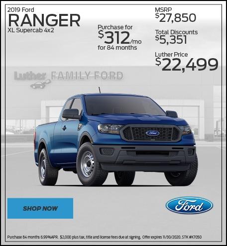 2019 Ford Ranger XL Supercab 4x2