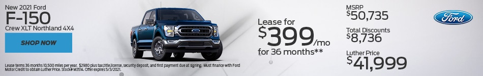 New 2021 Ford F-150 Crew XLT Northland 4X4