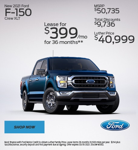 New 2021 Ford F-150 Crew XLT