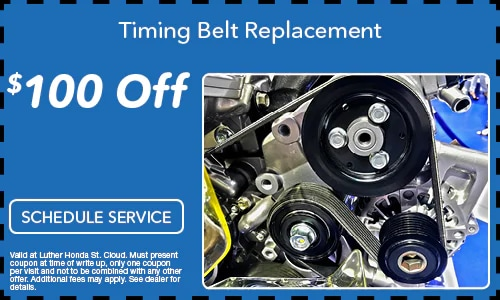 $100.00 Off Timing Belt Replacement