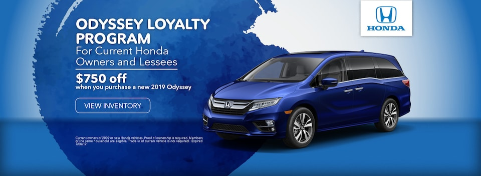 Odyssey Loyalty Program For Current Honda Owners and Lessees