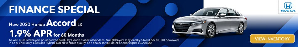 Finance Special New 2020 Honda Accord LX