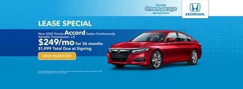 New 2020 Honda Accord Sedan Continuously Variable Transmission  LX