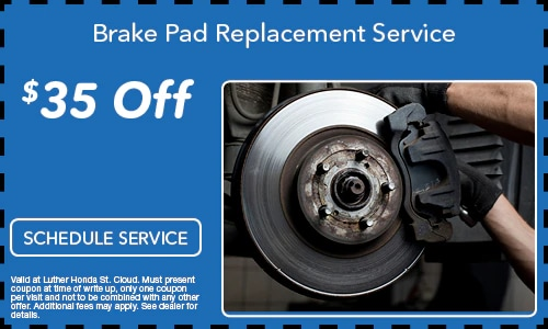 $35.00 Off Brake Pad Replacement