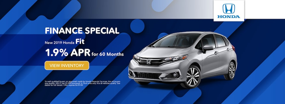 Finance Special New 2019 Honda Fit