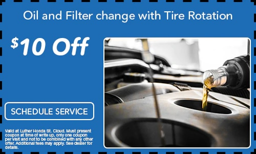 $10.00 Off Oil and Filter Change with Tire Rotation