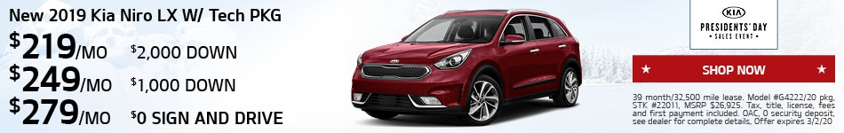 New 2019 Kia Niro LX W/ Tech PKG