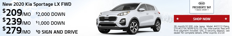 February 2020 Sportage
