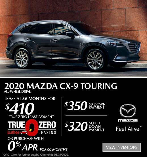 August 2020 Mazda CX-9 AWD Sport Lease