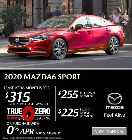 August 2020 Mazda6 Sport Lease