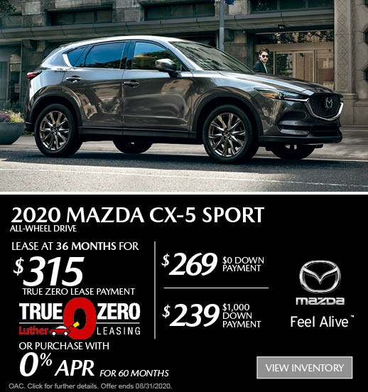 August 2020 Mazda CX-5 AWD Sport Lease