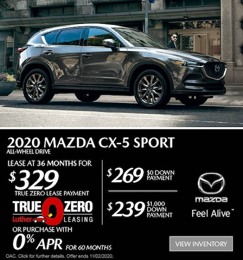 October 2020 Mazda CX-5 AWD Sport Lease