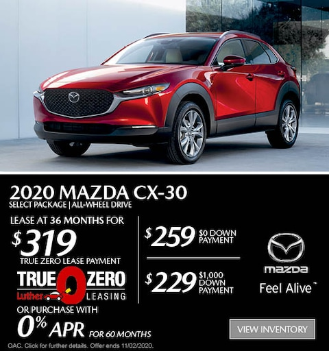 October 2020 Mazda CX-30 AWD Lease