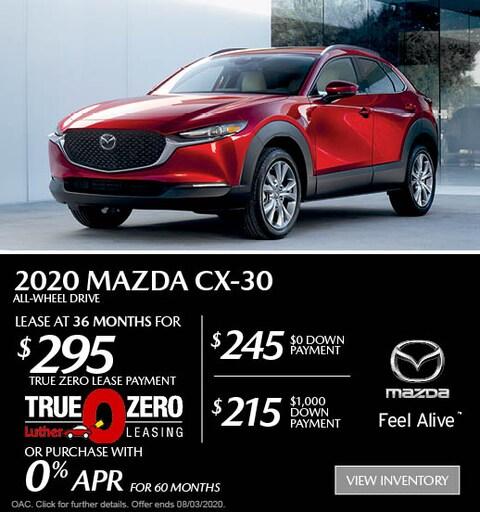 July 2020 Mazda CX-30 AWD Lease