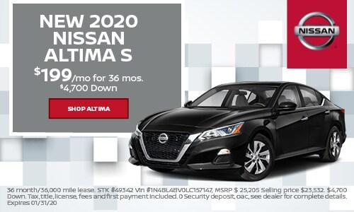 New 2020 Nissan Altima S