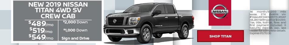 New 2019 Nissan Titan 4WD SV Crew Cab