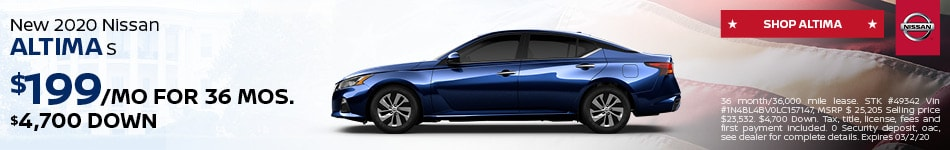 New 2020 Nissan Altima S