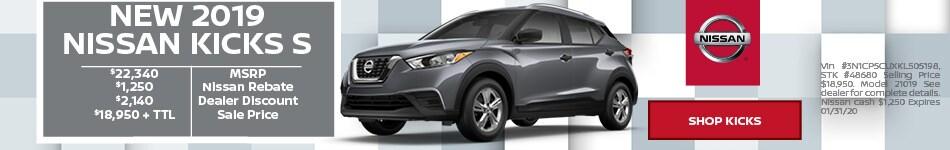 New 2019 Nissan Kicks S