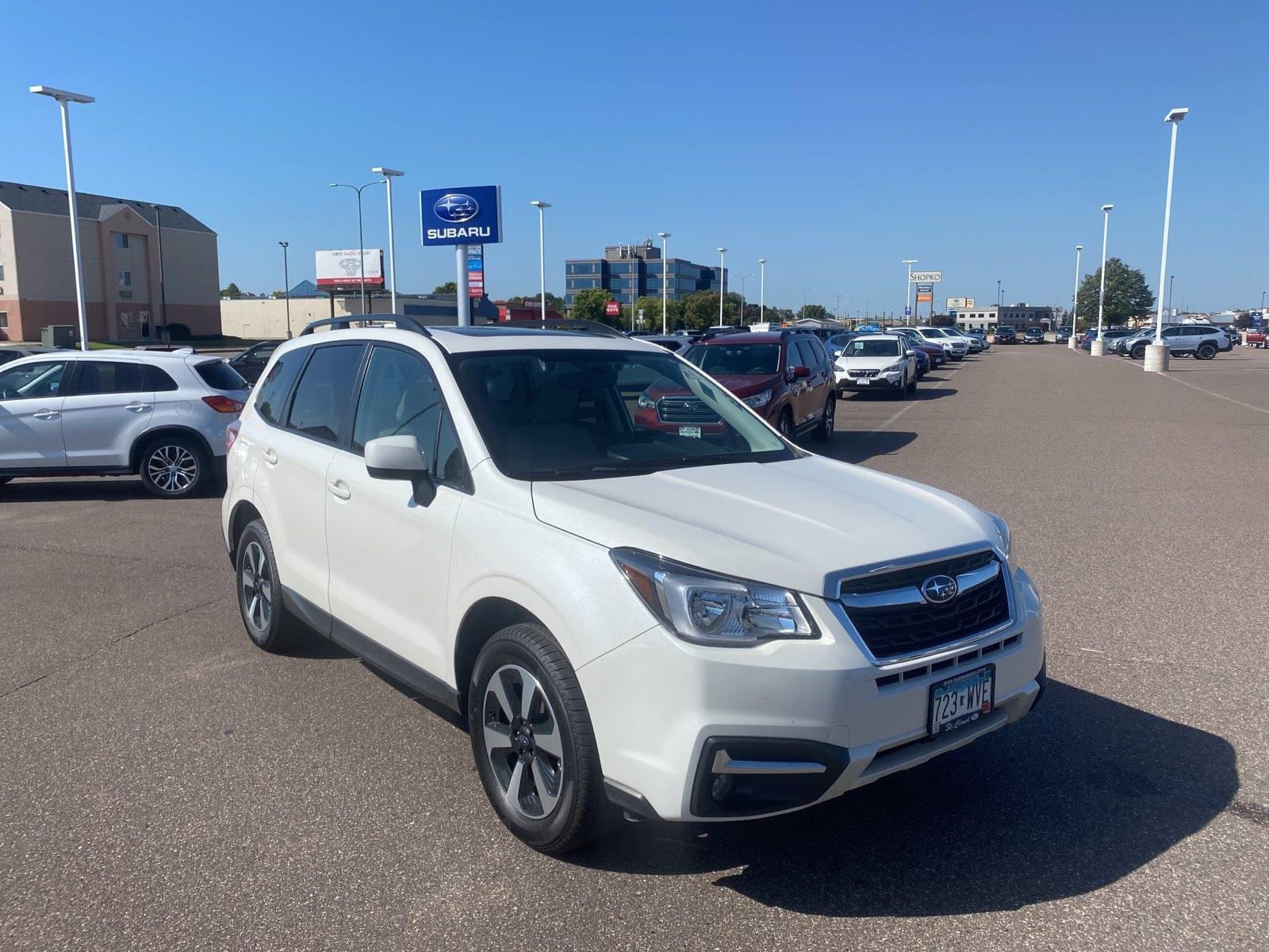 Used 2018 Subaru Forester Premium with VIN JF2SJAGCXJH414242 for sale in Saint Cloud, Minnesota
