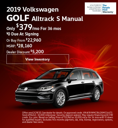February 2019 Golf Alltrack Lease