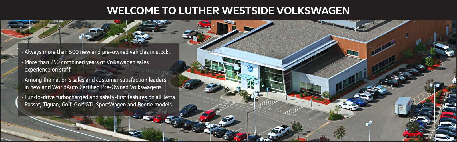 About Luther Westside Volkswagen A Volkswagen Dealership In Saint Louis Park