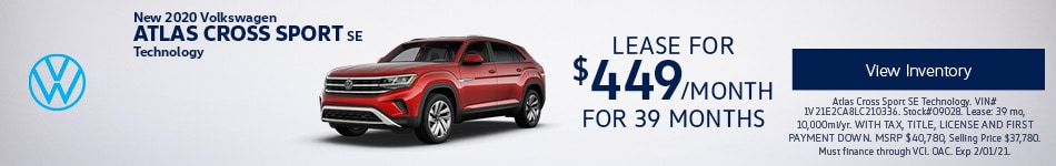 New 2020 Volkswagen Atlas Cross Sport SE Technology