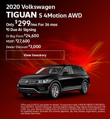 February 2020 Tiguan Lease