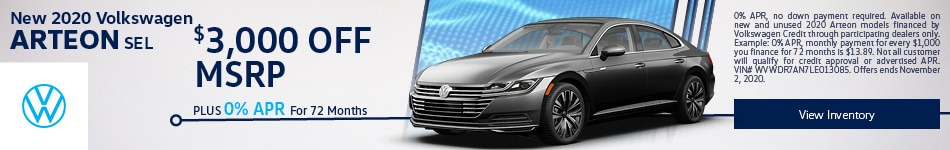 New 2020 Volkswagen Arteon SEL