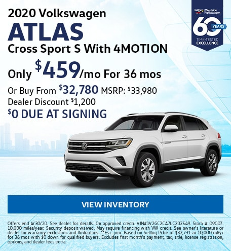 April 2020 Volkswagen Atlas Cross Sport Lease