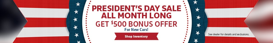 President's Day Sale All Month Long